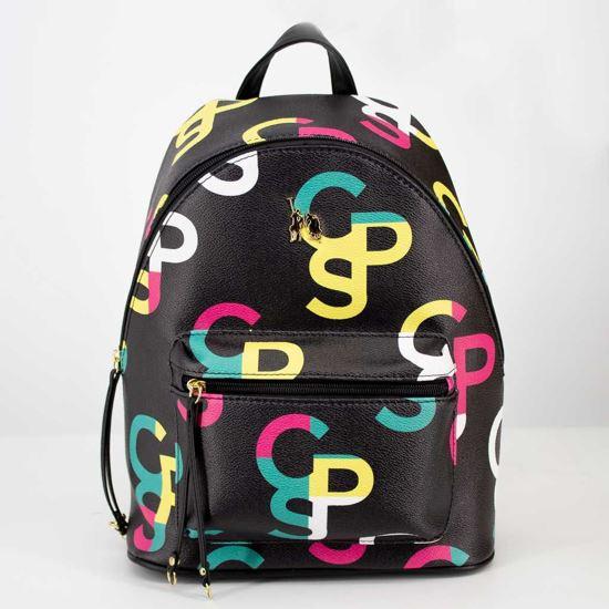 Immagine di CORTINA POLO STYLE- Zaino con logo CPS multicolor e tasca frontale