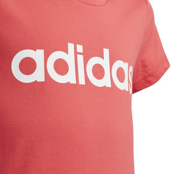 Immagine di ADIDAS  -  T-SHIRT JR MM LIN TEE PINK-WHITE