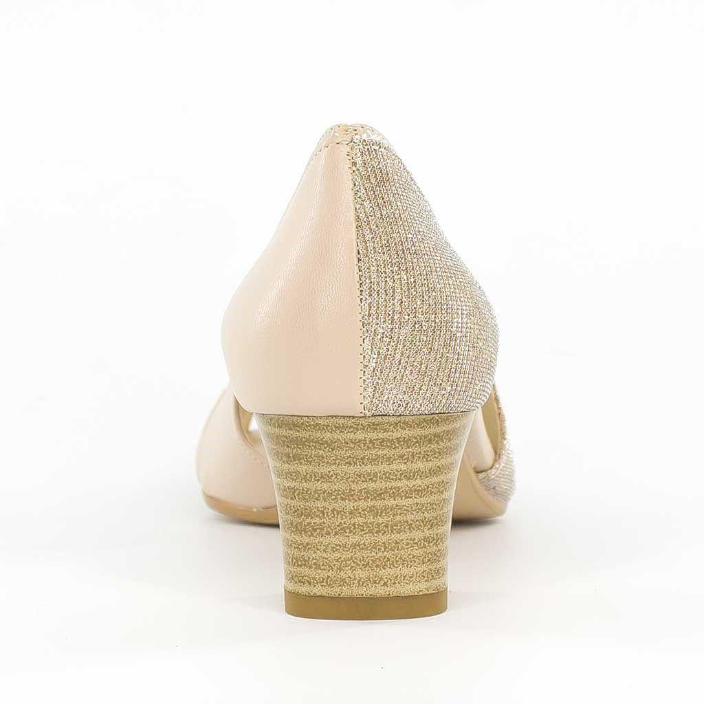 Immagine di CHIARA COMFORT - Déccoleté open toe gliiterata MADE IN ITALY, tacco 5cm