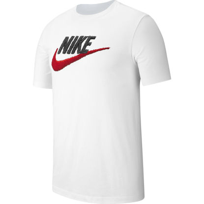Immagine di NIKE - T-SHIRT MM NSW TEE BRAND MARK WHITE-RED