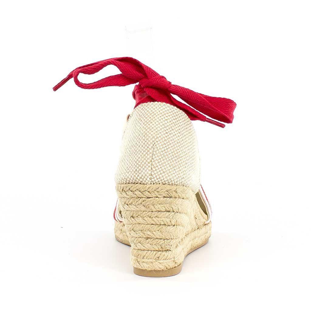 Immagine di TATOO - Espadrillas lace up a righe, zeppa 7cm