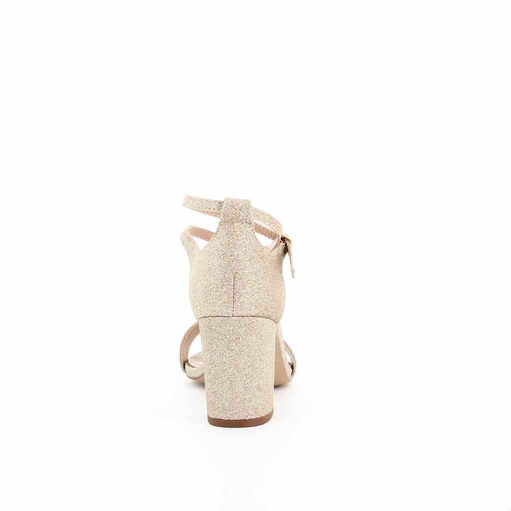 Immagine di MISS GLOBO- Sandalo glitter con sottopiede in VERA PELLE, tacco 7,7CM