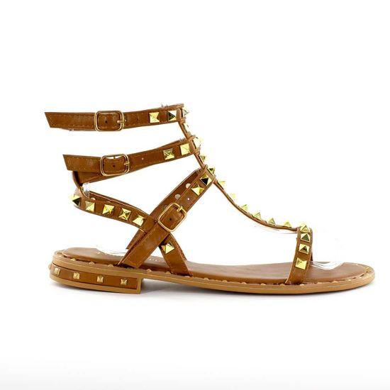 Immagine di VANILLA PUNK- Sandalo con borchie e tre fibbie alla caviglia