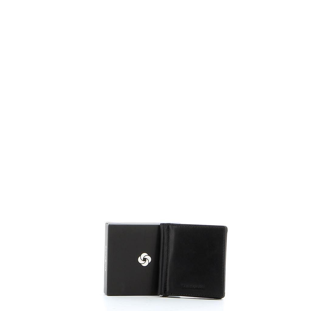 Immagine di SAMSONITE- Porta carte di credito uomo in VERA PELLE con fermasoldi e p.spicci a pozzetto esterno