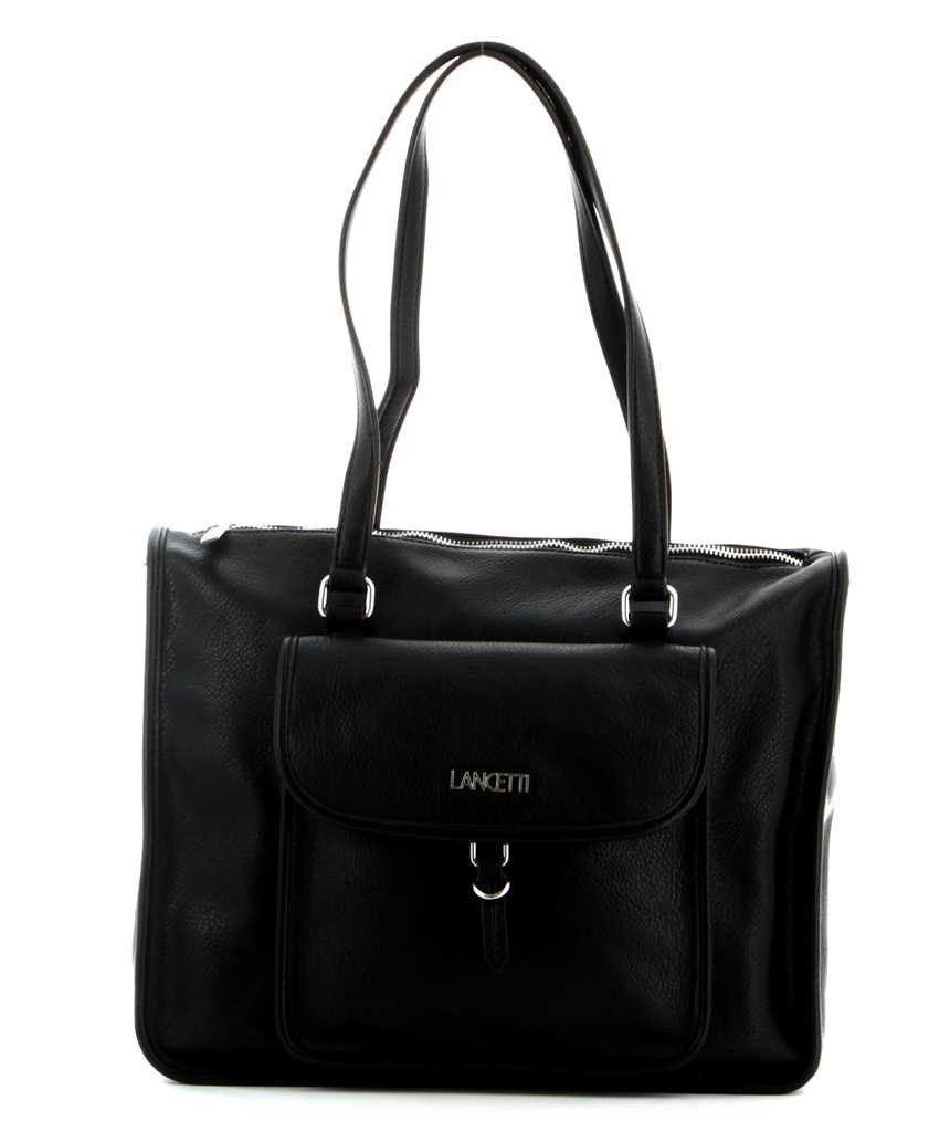 Immagine di LANCETTI-Shopping con tasca frontale a calamita e tracolla rimovibile