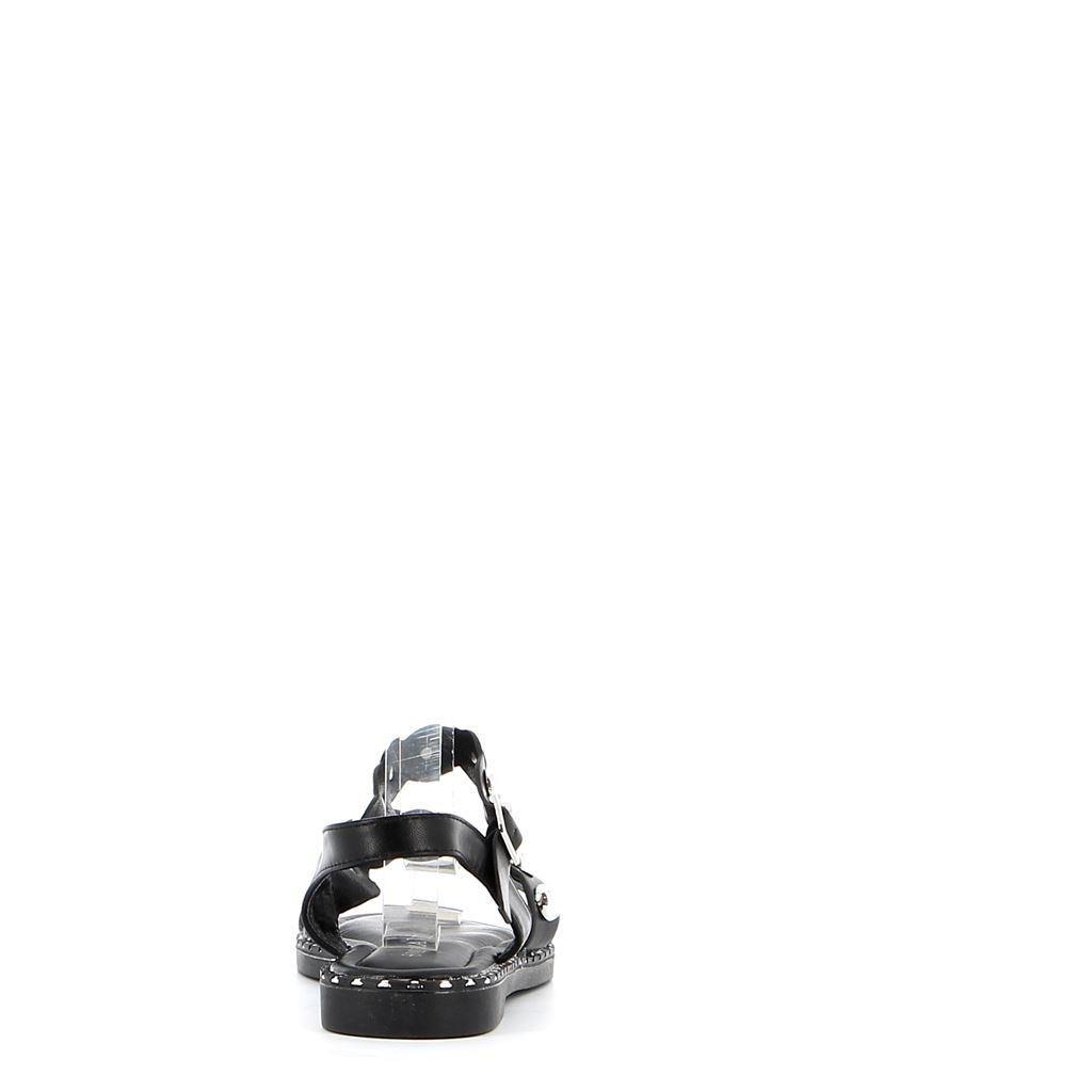 Immagine di VANILLA PUNK- Sandalo con borchie tonde, fascia diagonale e cinturino alla caviglia