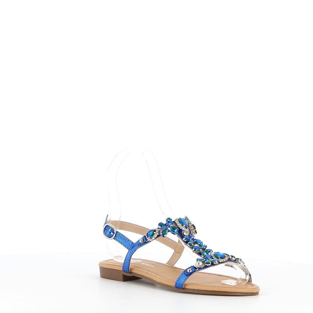 Immagine di VANILLA PUNK- Sandalo gioiello con cinturino alla caviglia effetto cocco