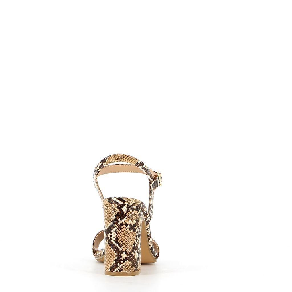 Immagine di MISS GLOBO- Sandalo pitonato con sottopiede in VERA PELLE, tacco 10CM