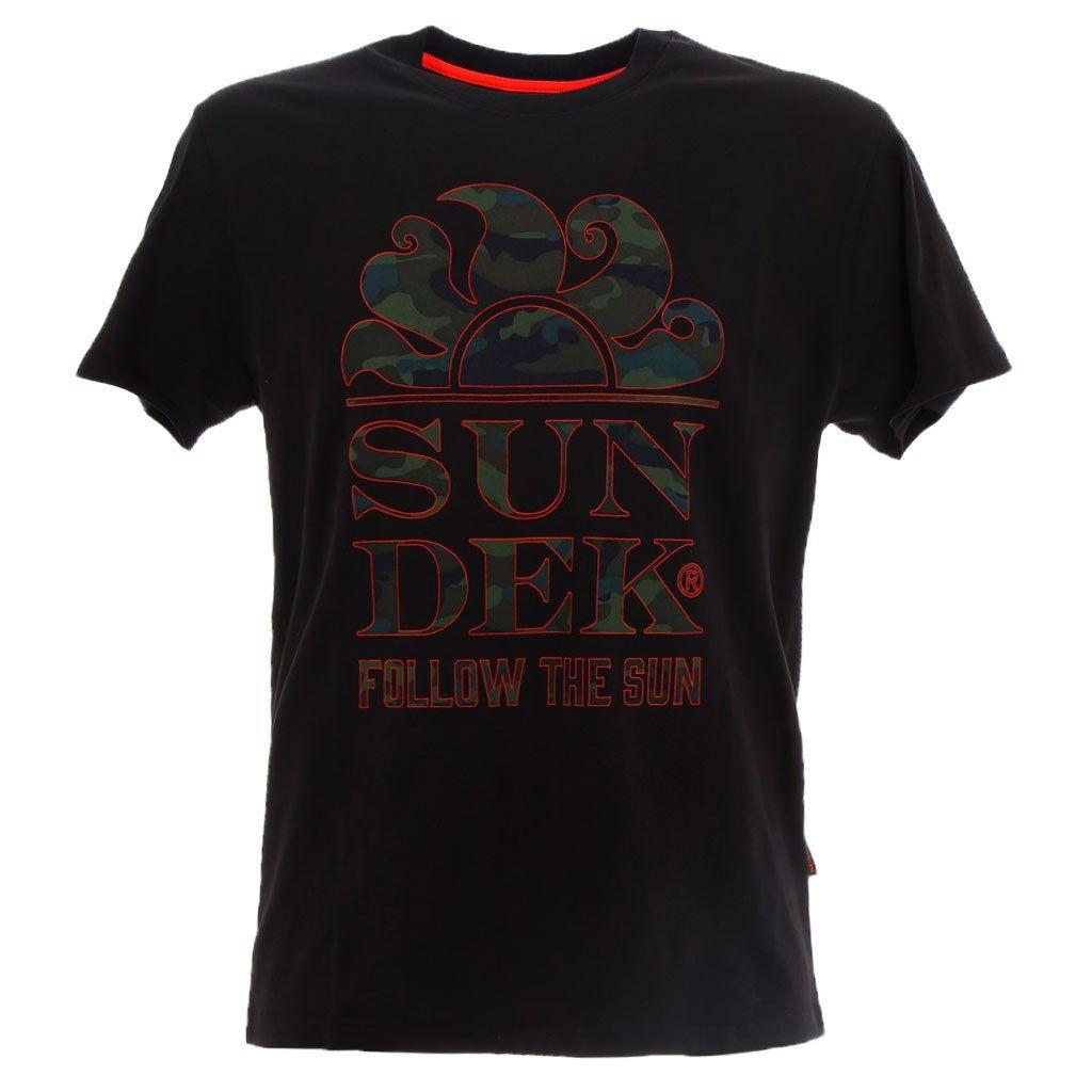 Immagine di SUNDEK - T-SHIRT MM LOGO FOLLOW THE SUN BLACK