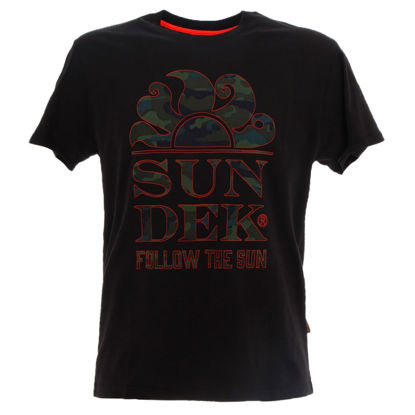 Immagine di SUNDEK - T-SHIRT MM LOGO FOLLOW THE SUN BLACK
