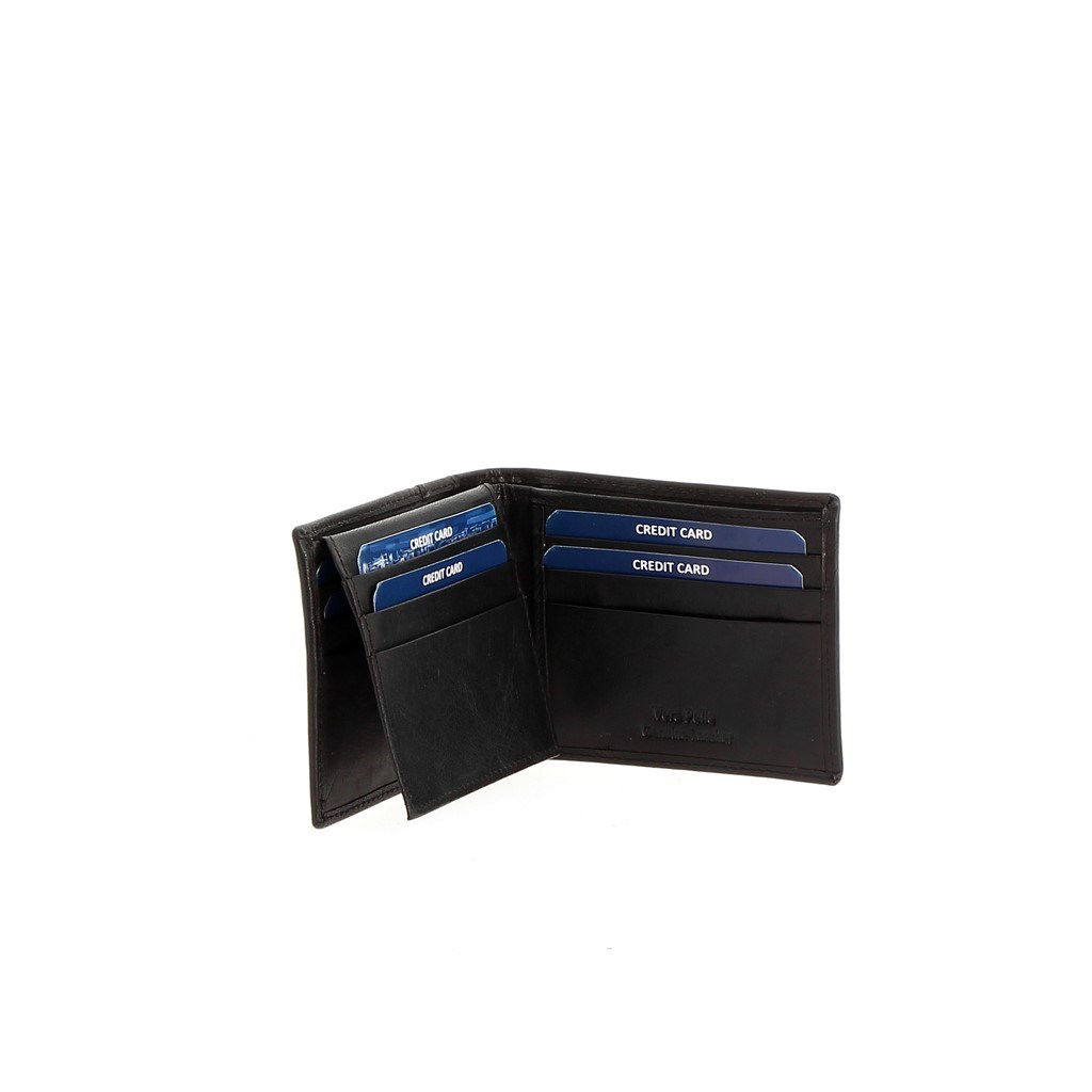 Immagine di BROKER'S- Portafoglio in VERA PELLE con porta carte di credito e doppio scomparto banconote