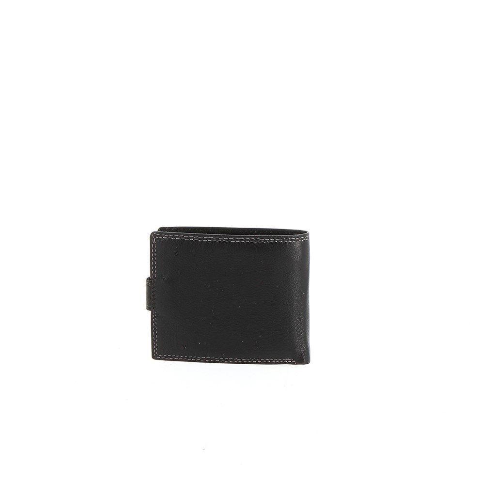 Immagine di ON SPIRIT- Portafoglio piccolo in VERA PELLE con chiusura a bottone