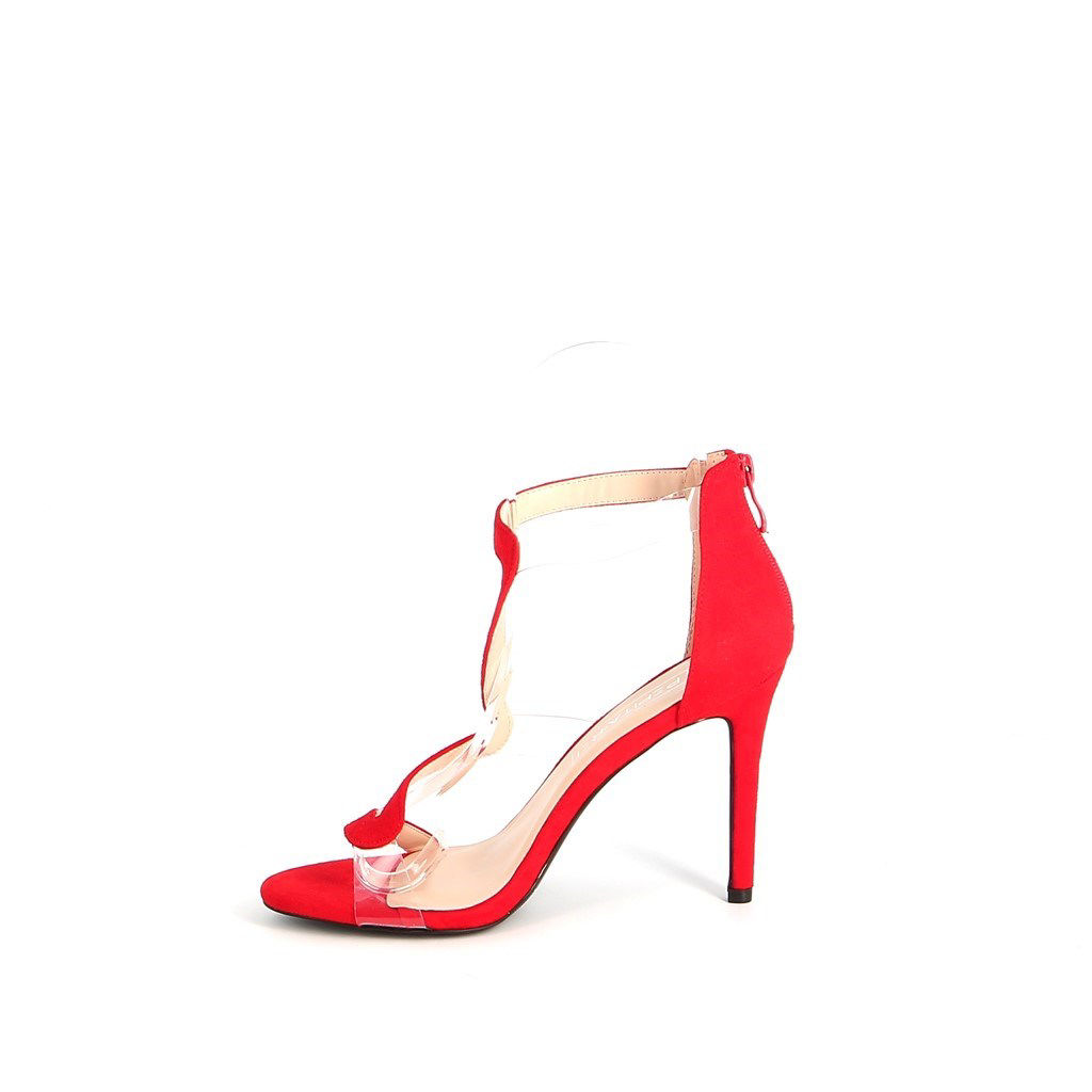 Immagine di PEPITA REI- Sandalo con fascia zig zag e inserti trasparenti, tacco 10,5CM