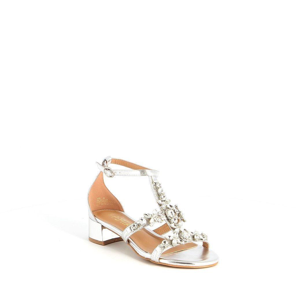 Immagine di PEPITA REI- Sandalo gioiello doppia fascia con pietre, tacco 4CM