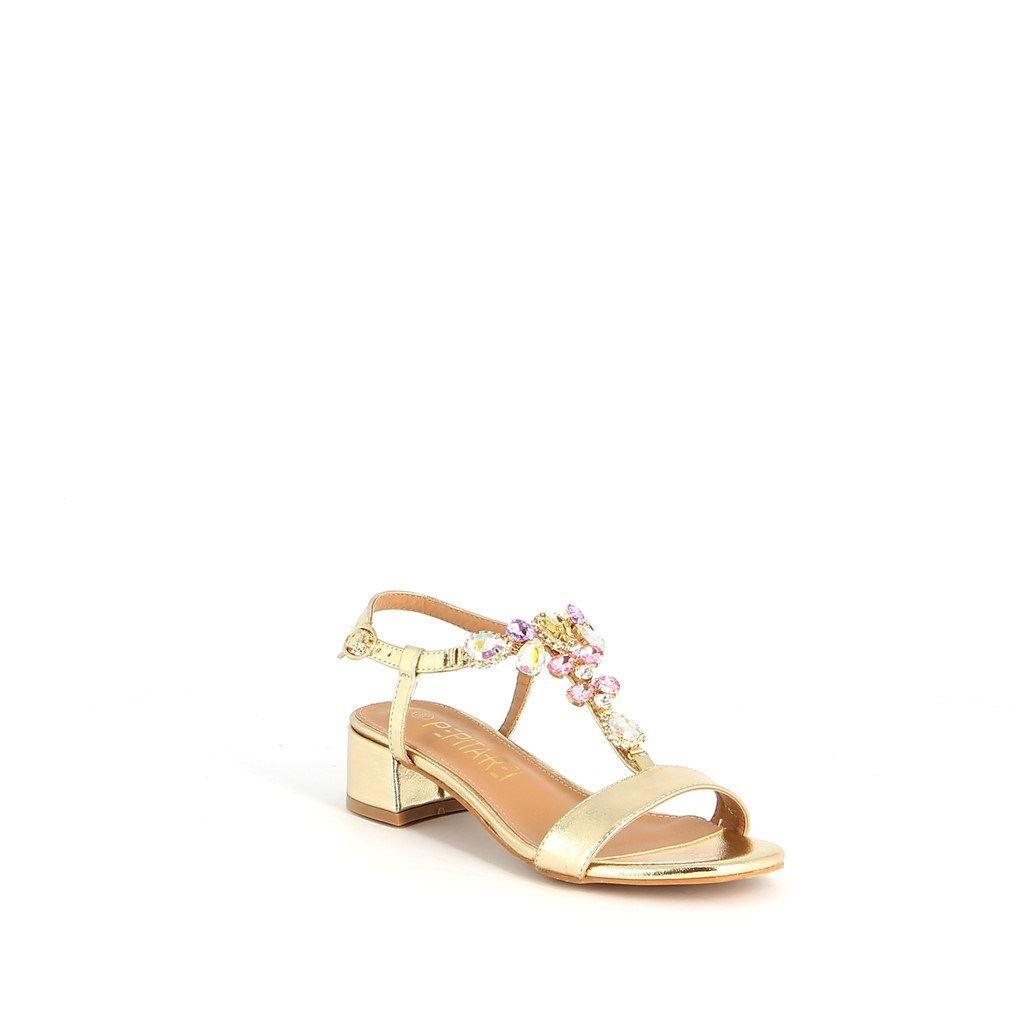 Immagine di PEPITA REI- Sandalo gioiello T-strap con pietre, tacco 4,5CM