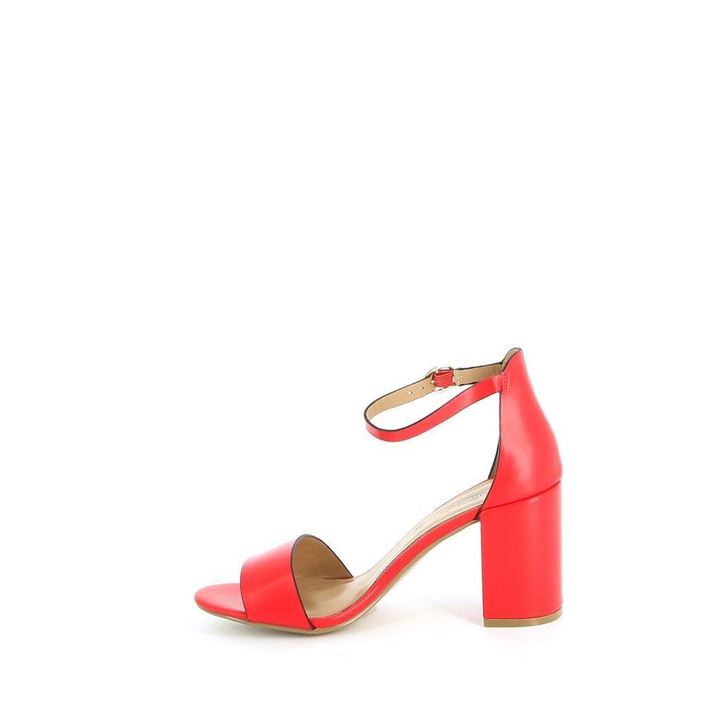 Immagine di MISS GLOBO- Sandalo con cinturino alla caviglia e sottopiede in VERA PELLE, tacco 8,5CM