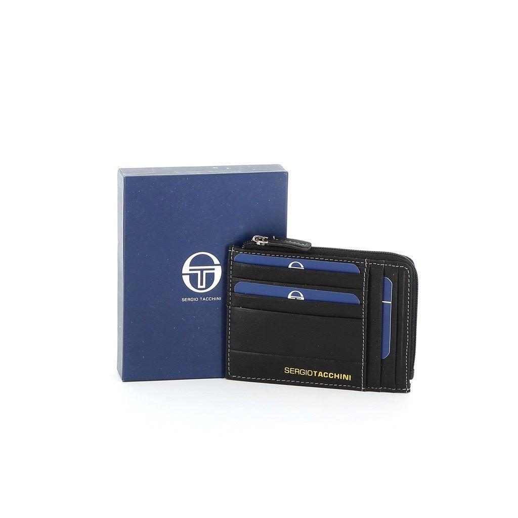 Immagine di SERGIO TACCHINI- Porta carte di credito in VERA PELLE con p.spicci zip