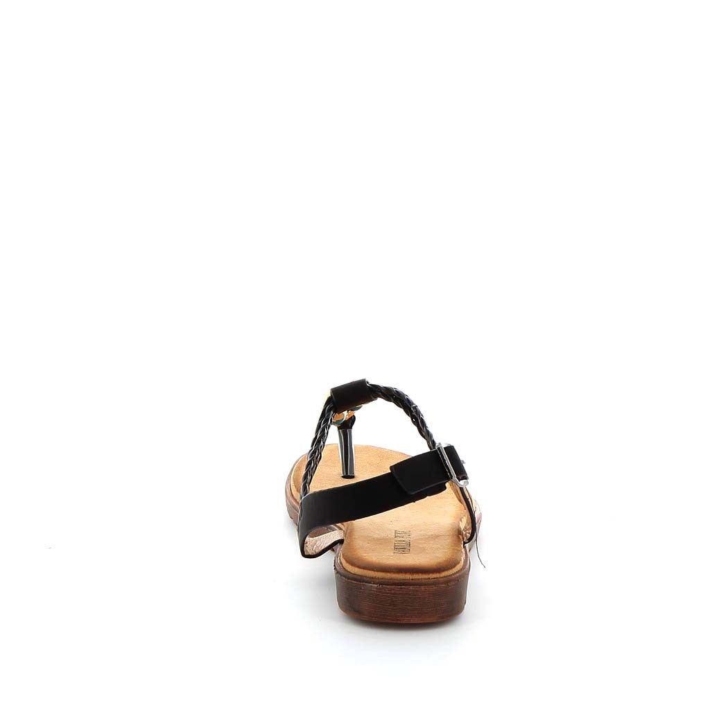 Immagine di VANILLA PUNK- Sandalo infradito con pietre e fasce intrecciate