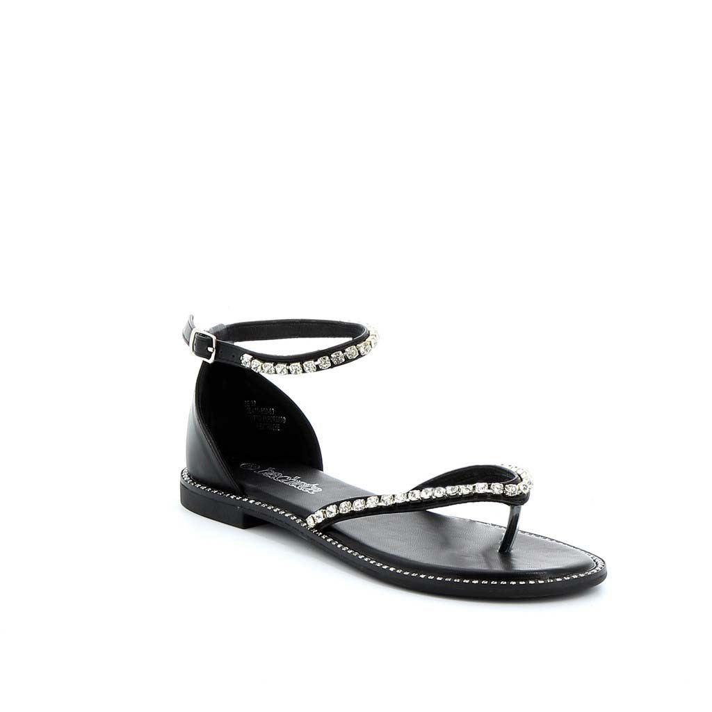Immagine di BACHATA- Sandalo infradito gioiello con cinturino alla caviglia