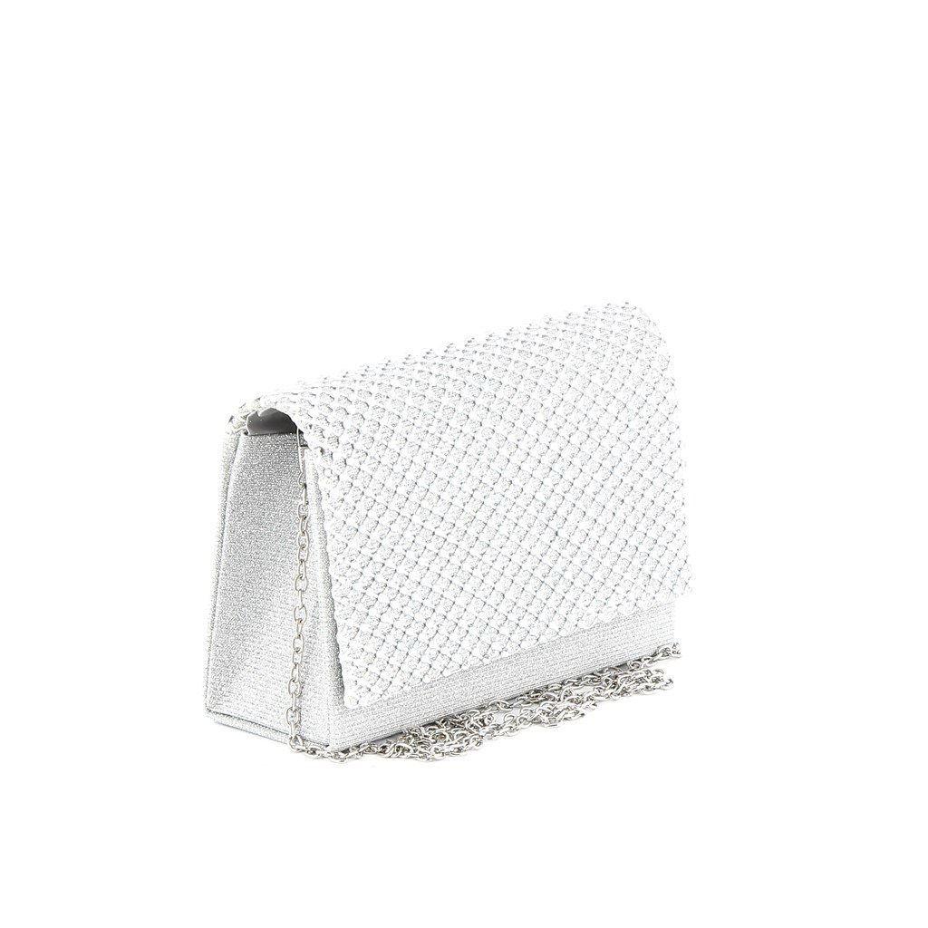 Immagine di MISS GLOBO - Mini bag in lurex con strass su patta