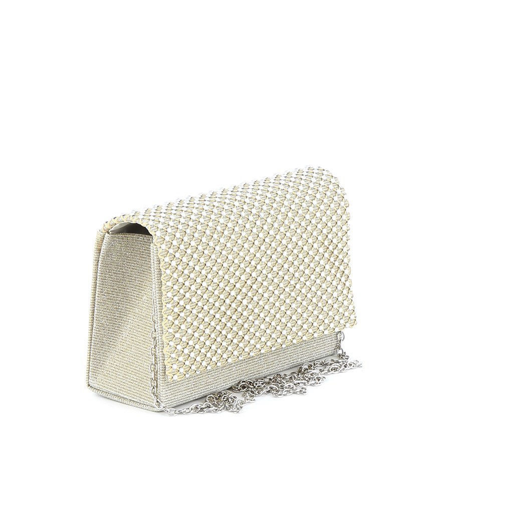Immagine di MISS GLOBO - Mini bag in lurex con strass su patta