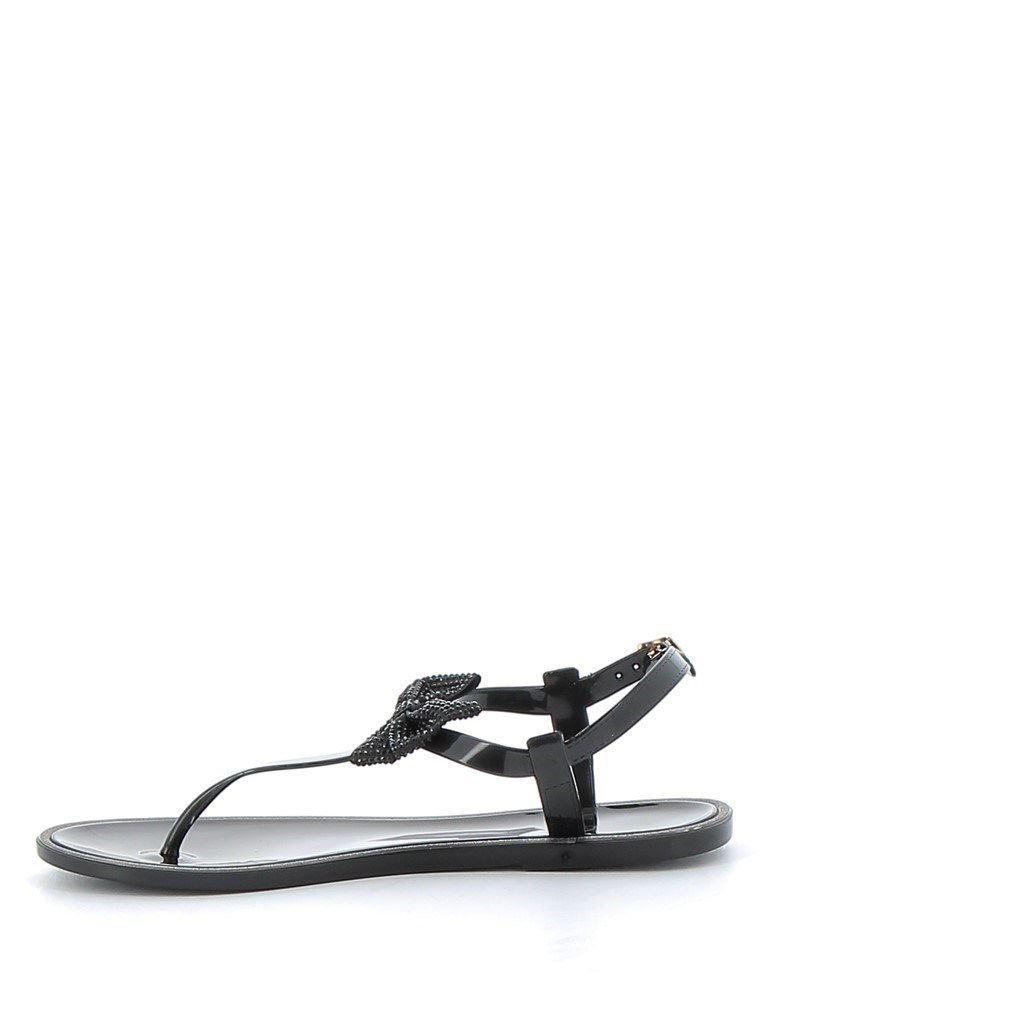 Immagine di MISS GLOBO- Sandalo infradito con fiocco strass e bordo in glitter