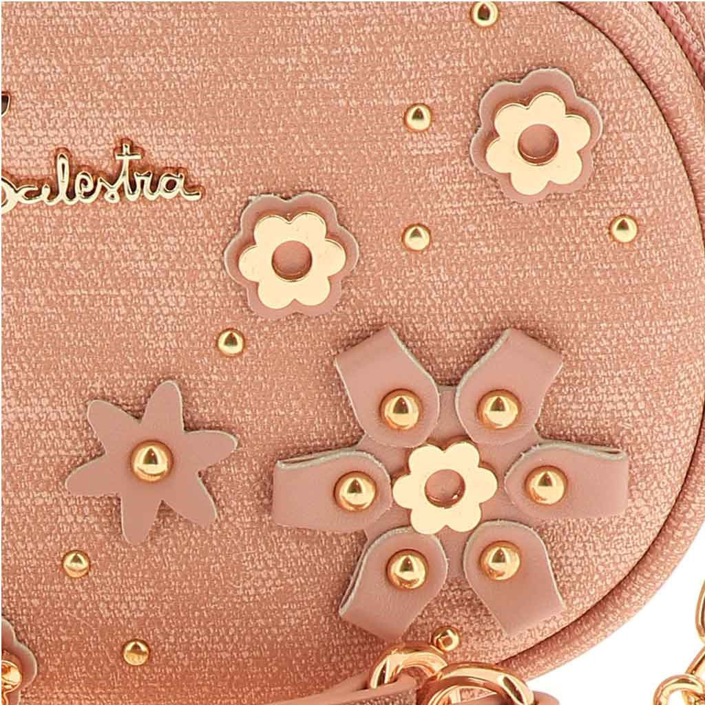 Immagine di RBJ BALESTRA- Tracolla/marsupio con applicazioni fiori in metallo e borchiette tonde