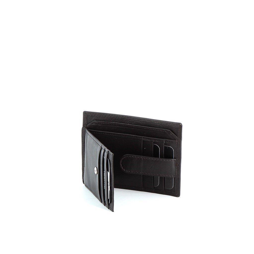 Immagine di ON SPIRIT- Porta carte di credito in VERA PELLE con chiusura a bottone verticale