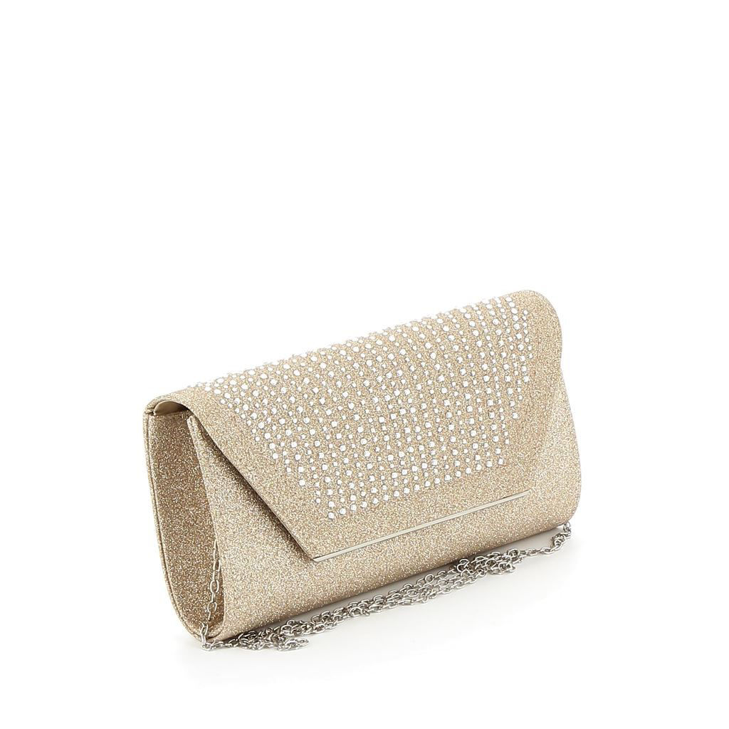 Immagine di DIVAS- Pochette lurex con strass su patta