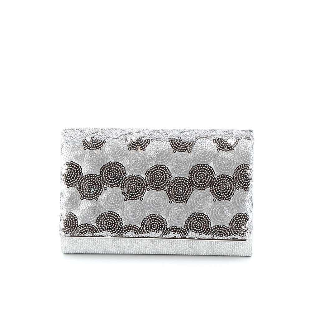 Immagine di MISS GLOBO- Pochette lurex con paillettes tonde su patta