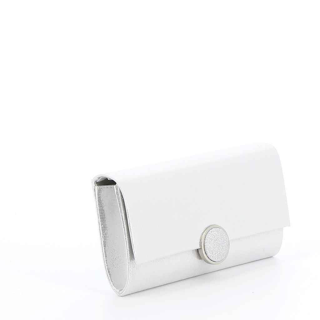 Immagine di MISS GLOBO- Pochette con applicazione tonda in glitter a chiusura