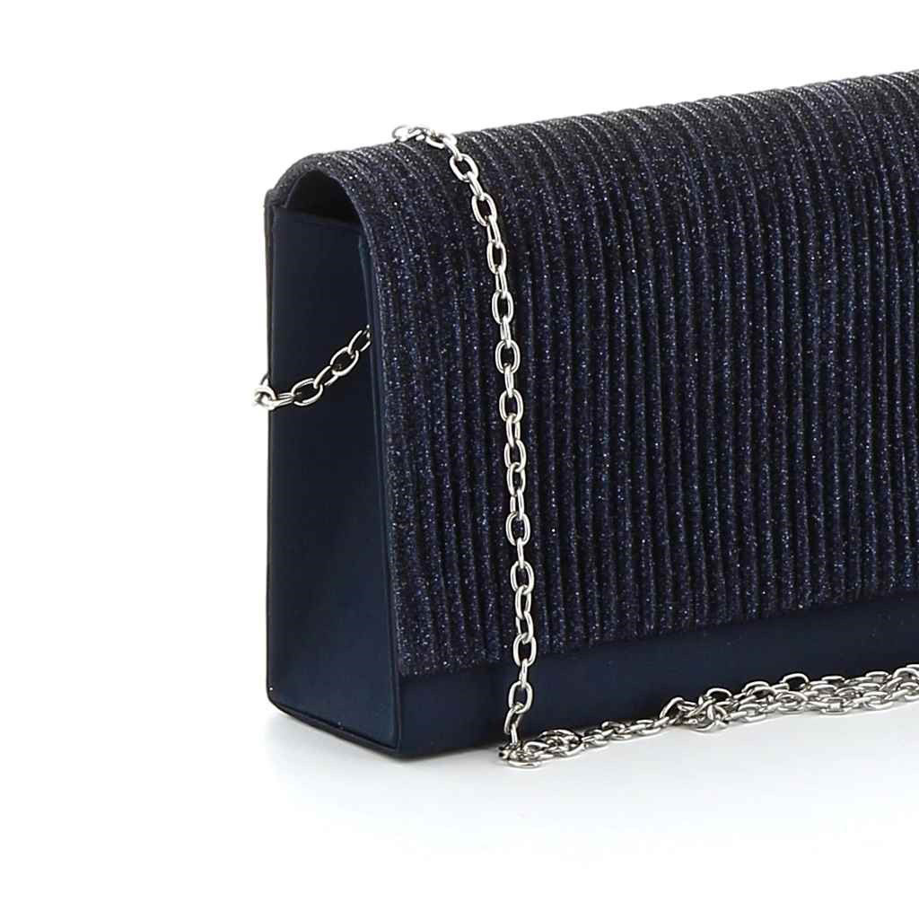 Immagine di MISS GLOBO- Pochette con plissée verticale e glitter su patta