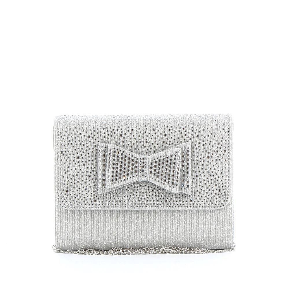 Immagine di DIVAS- Pochette lurex con strass e fiocco su patta