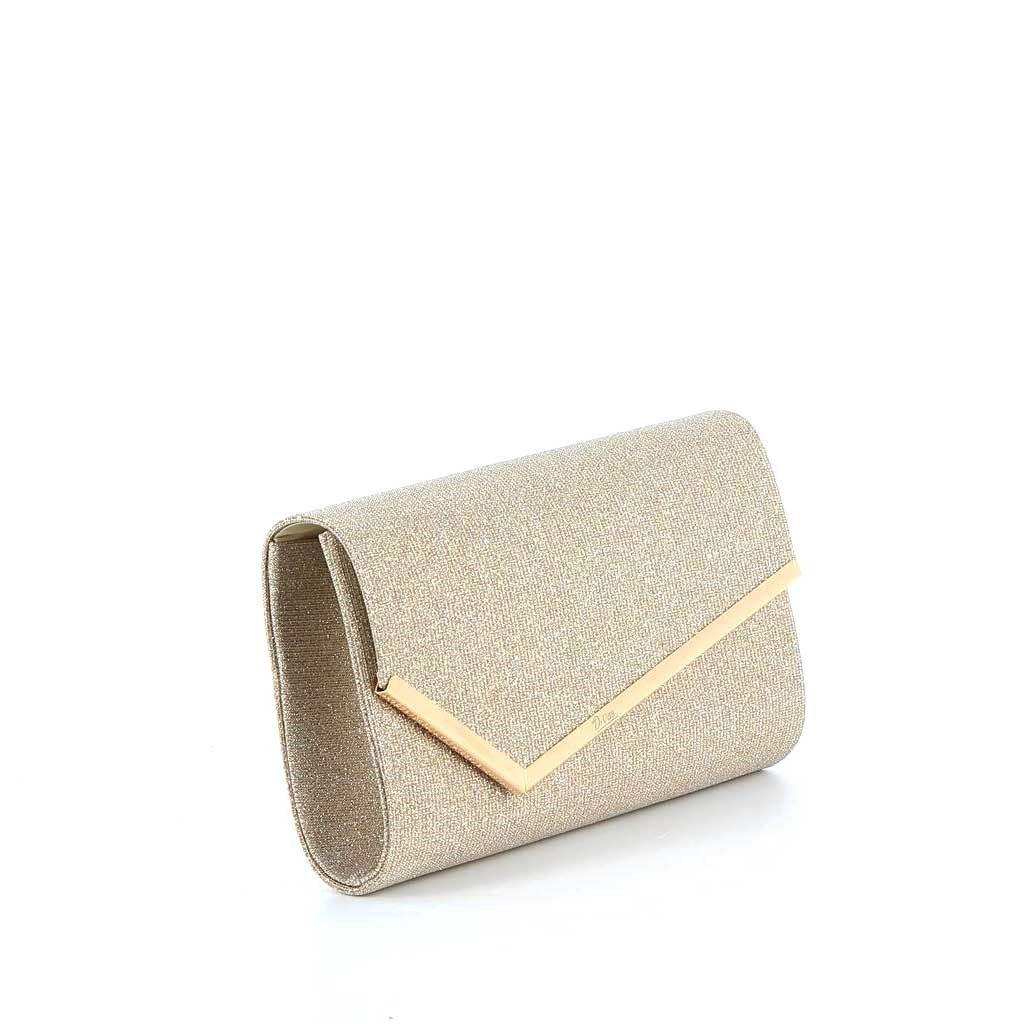 Immagine di DIVAS- Pochette lurex con bordo in metallo su patta