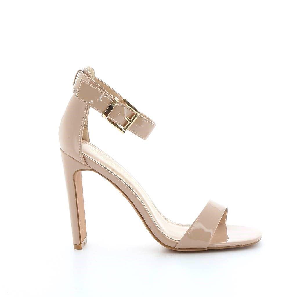 Immagine di PEPITA REI- Sandalo effetto lucido con cinturino alla caviglia, tacco 11CM