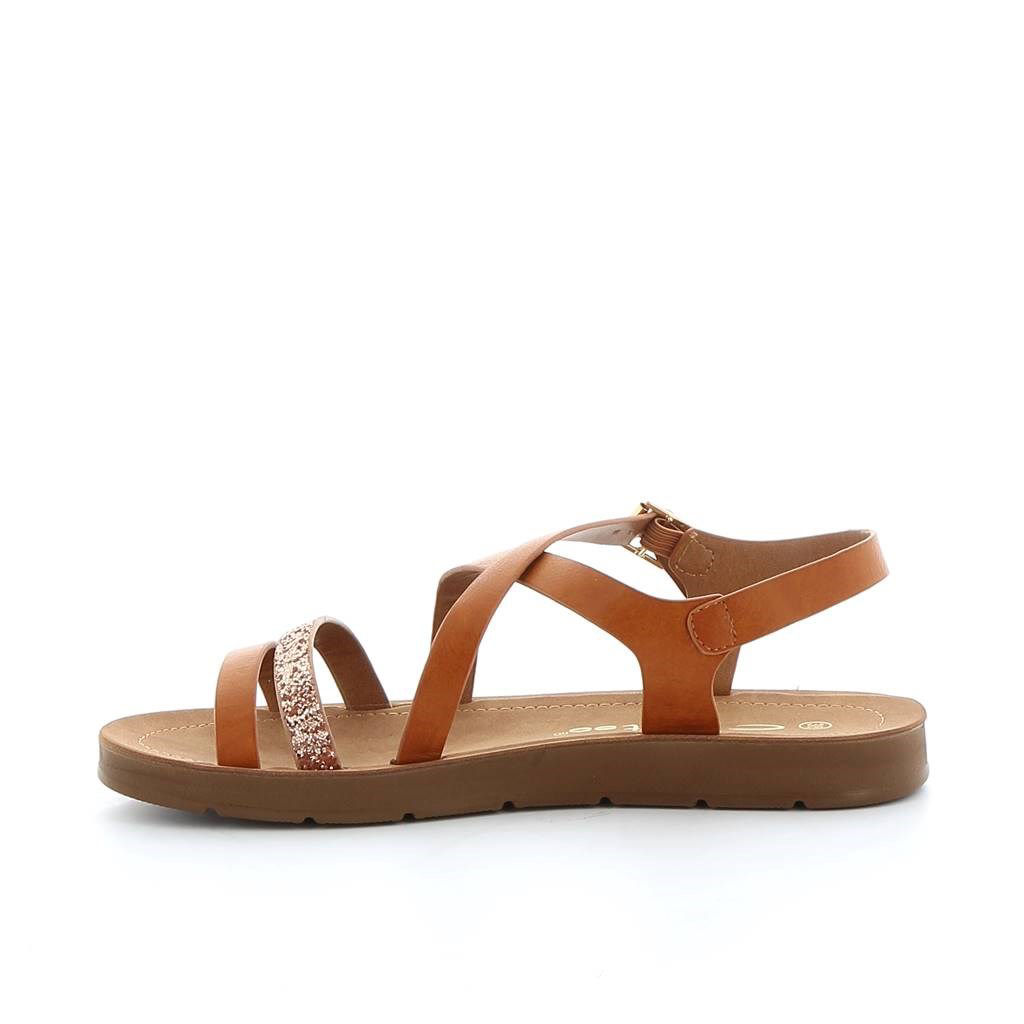 Immagine di TATOO- Sandalo con fascetta glitter e fasce incrociate