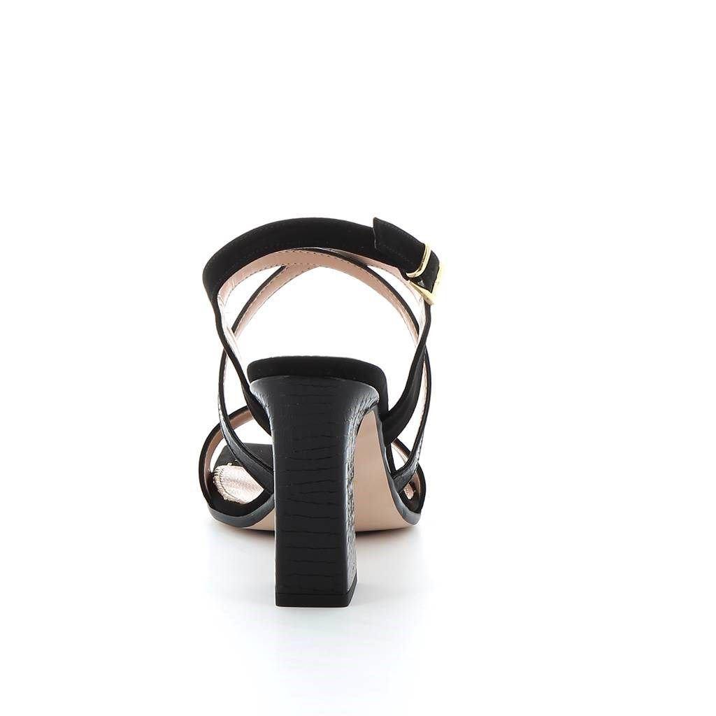 Immagine di LADY GLOBO- Sandalo stampa cocco con punta quadra e sottopiede in VERA PELLE, tacco 10CM