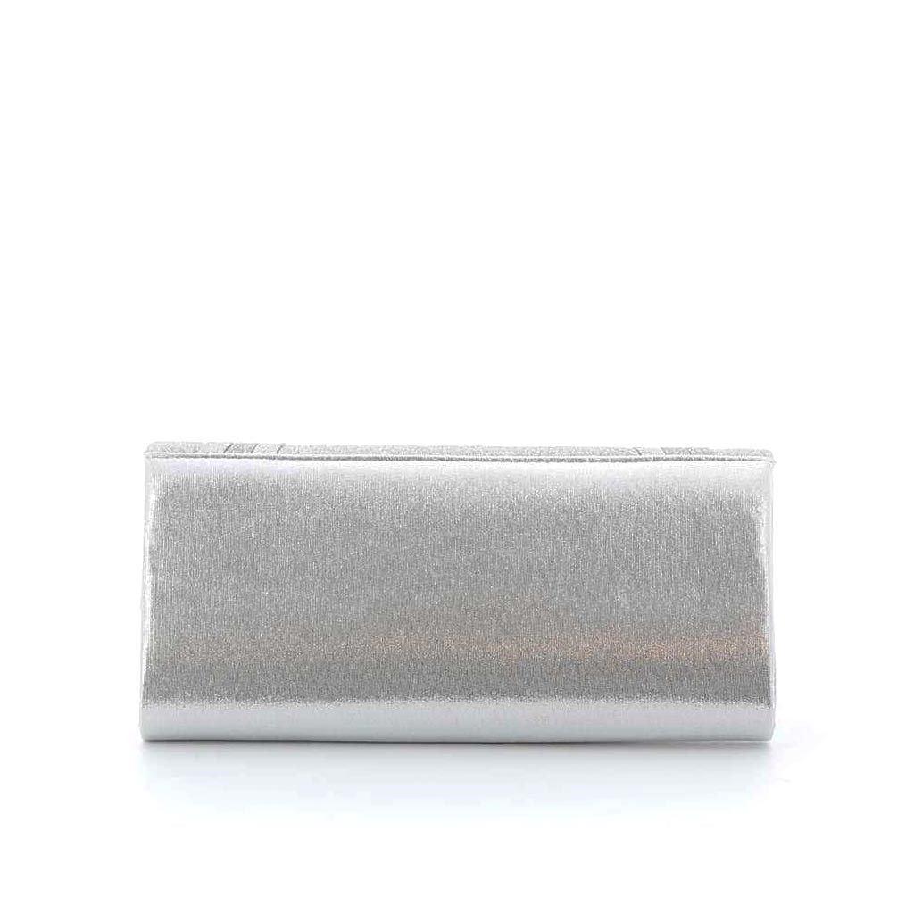 Immagine di DIVAS- Pochette effetto metallizzato con patta glitterata