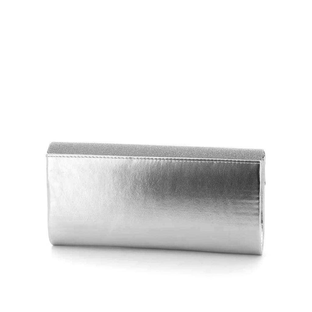 Immagine di DIVAS- Pochette effetto metallizzato e strass con patta lurex