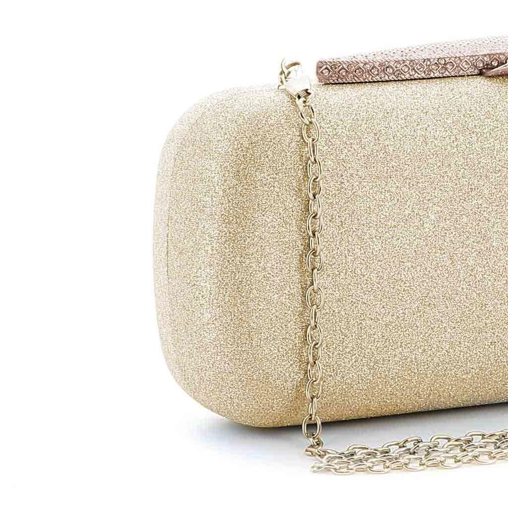 Immagine di MISS GLOBO- Clutch glitterata con chiusura gioiello