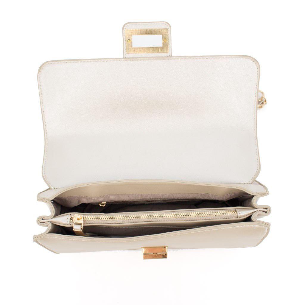 Immagine di RBJ RENATO BALESTRA- Tracolla/ borsa due manici con patta e chiusura a girello