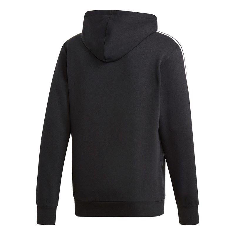 Immagine di Felpa con cappuccio Essentials 3-Stripes Pullover black/white