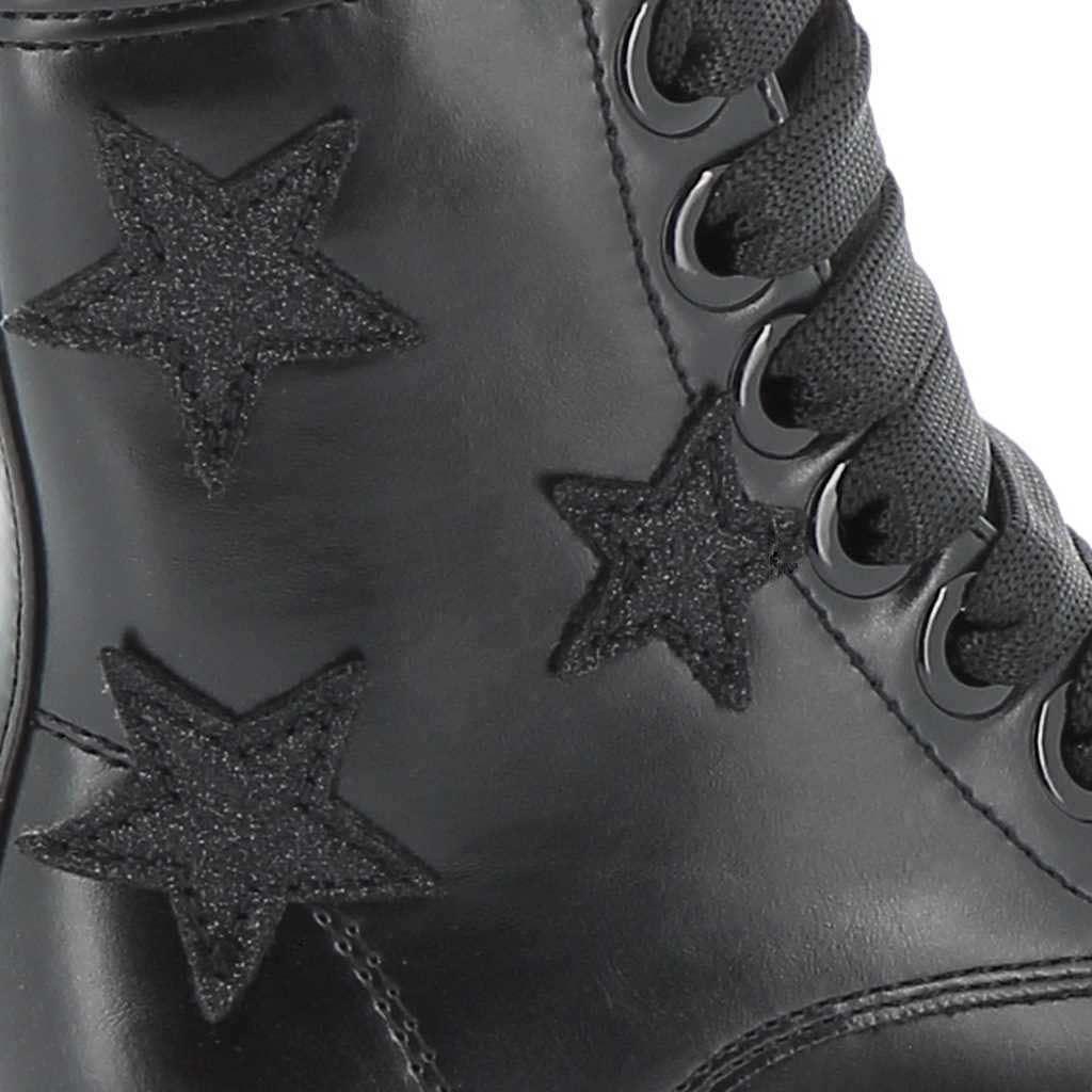 Immagine di ROXY ROSE- Anfibio con stelle glitter laterali e cuciture chiare sul fondo