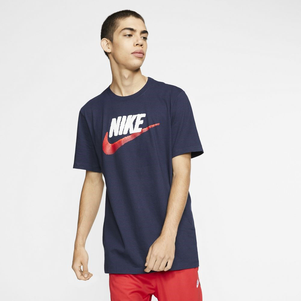 Immagine di NIKE - T-SHIRT MM NSW TEE BRAND MARK NAVY-WHITE