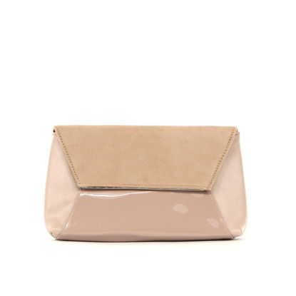 Immagine di MISS GLOBO- Pochette multimateriale con bordo metallico su patta
