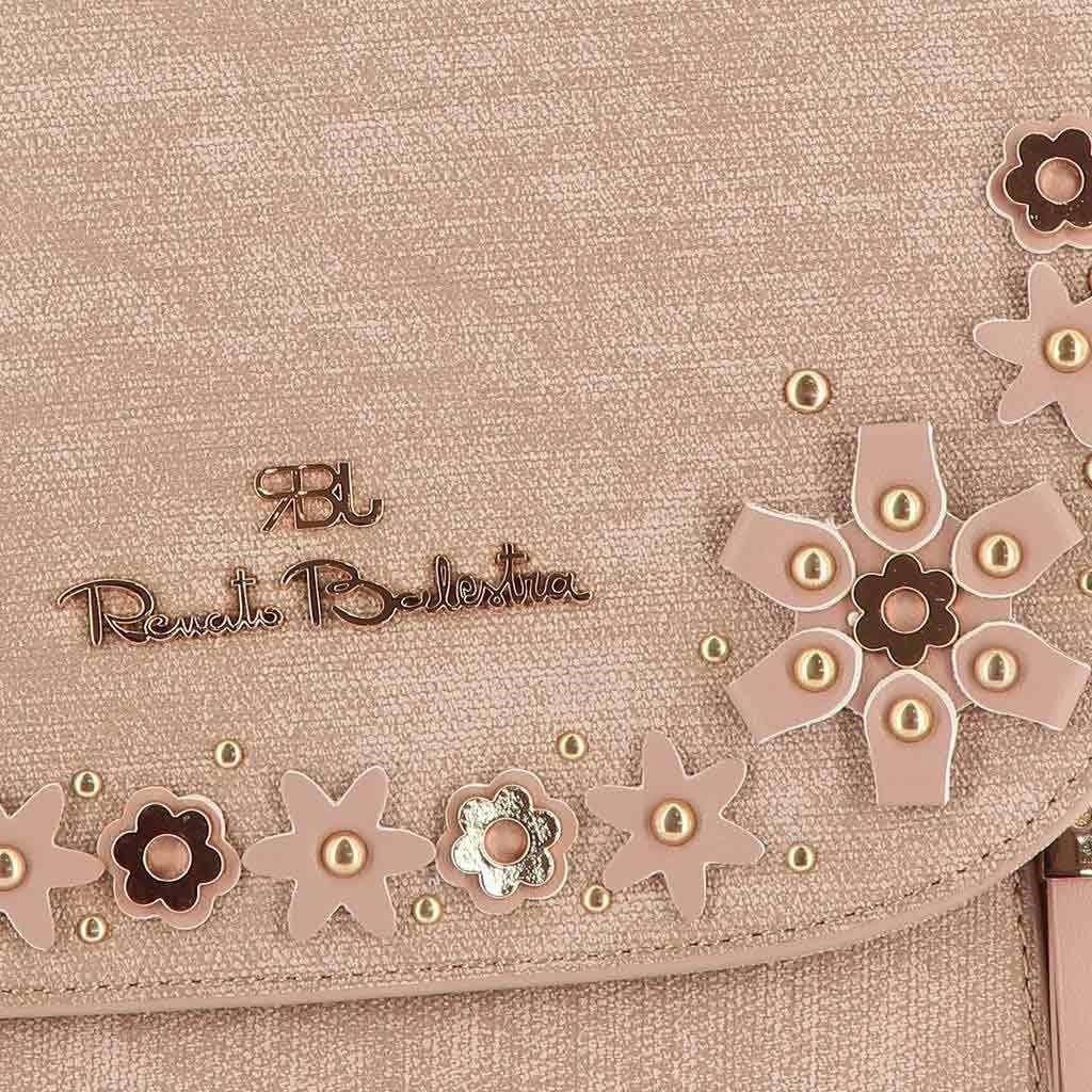 Immagine di RBJ RENATO BALESTRA- Zaino con applicazioni floreali su patta e cerniere frontali verticali