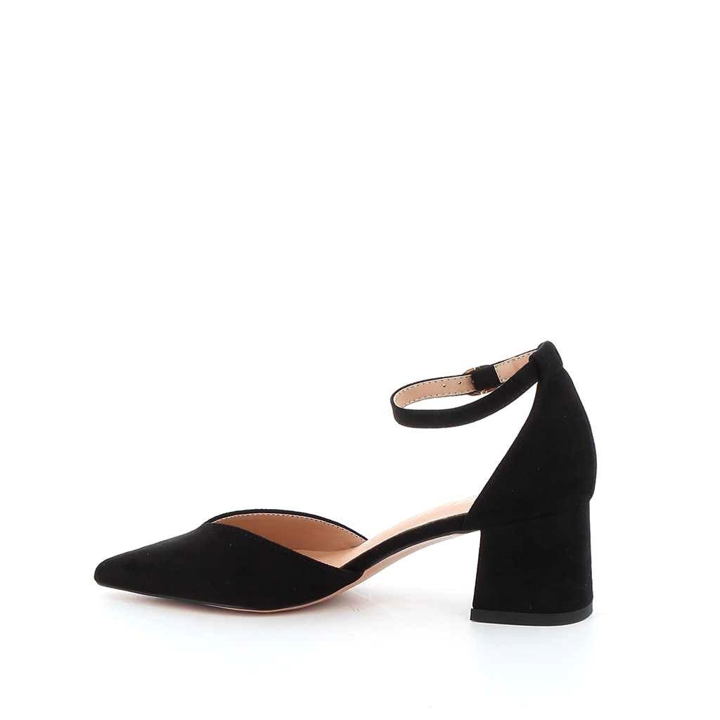 Immagine di MISS GLOBO- Décolleté a punta con cinturino alla caviglia, sottopiede in VERA PELLE, tacco 5,5CM