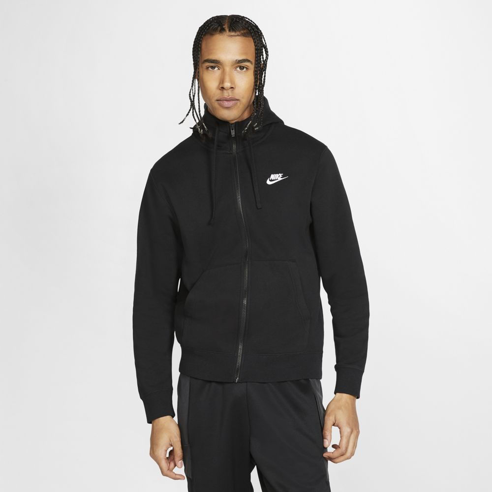 Immagine di NIKE - JACKET C/CAPP.NSW CLUB HD FZ BB BLACK