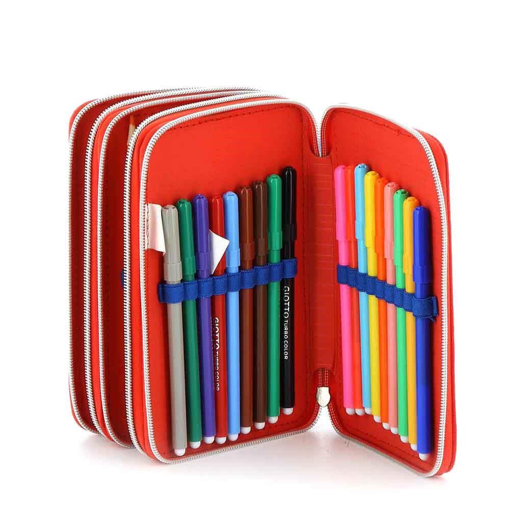 Immagine di MICKEY MOUSE- Astuccio scuola 3 cerniere con pastelli e pennarelli