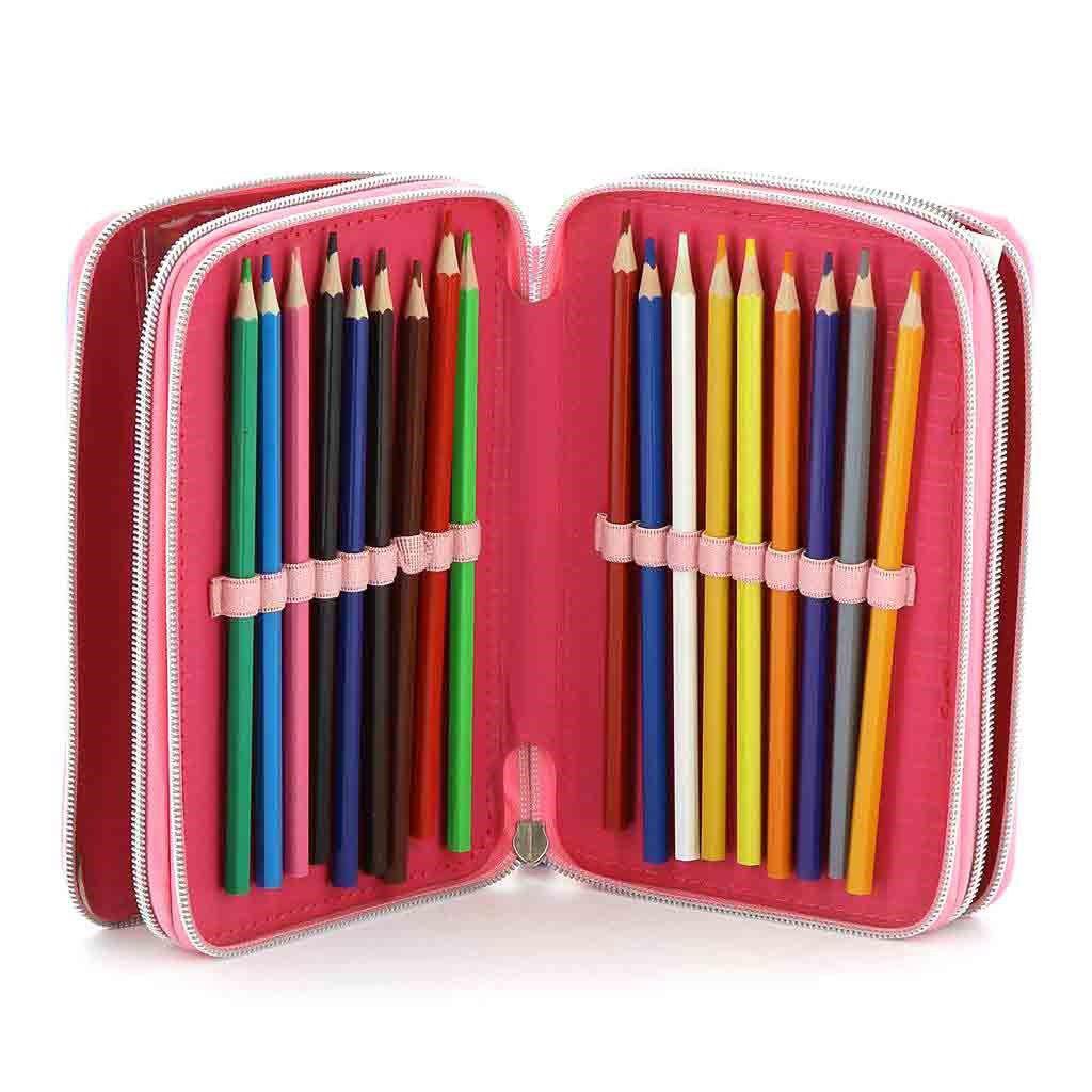 Immagine di MINNIE- Astuccio scuola 3 cerniere con pastelli e pennarelli